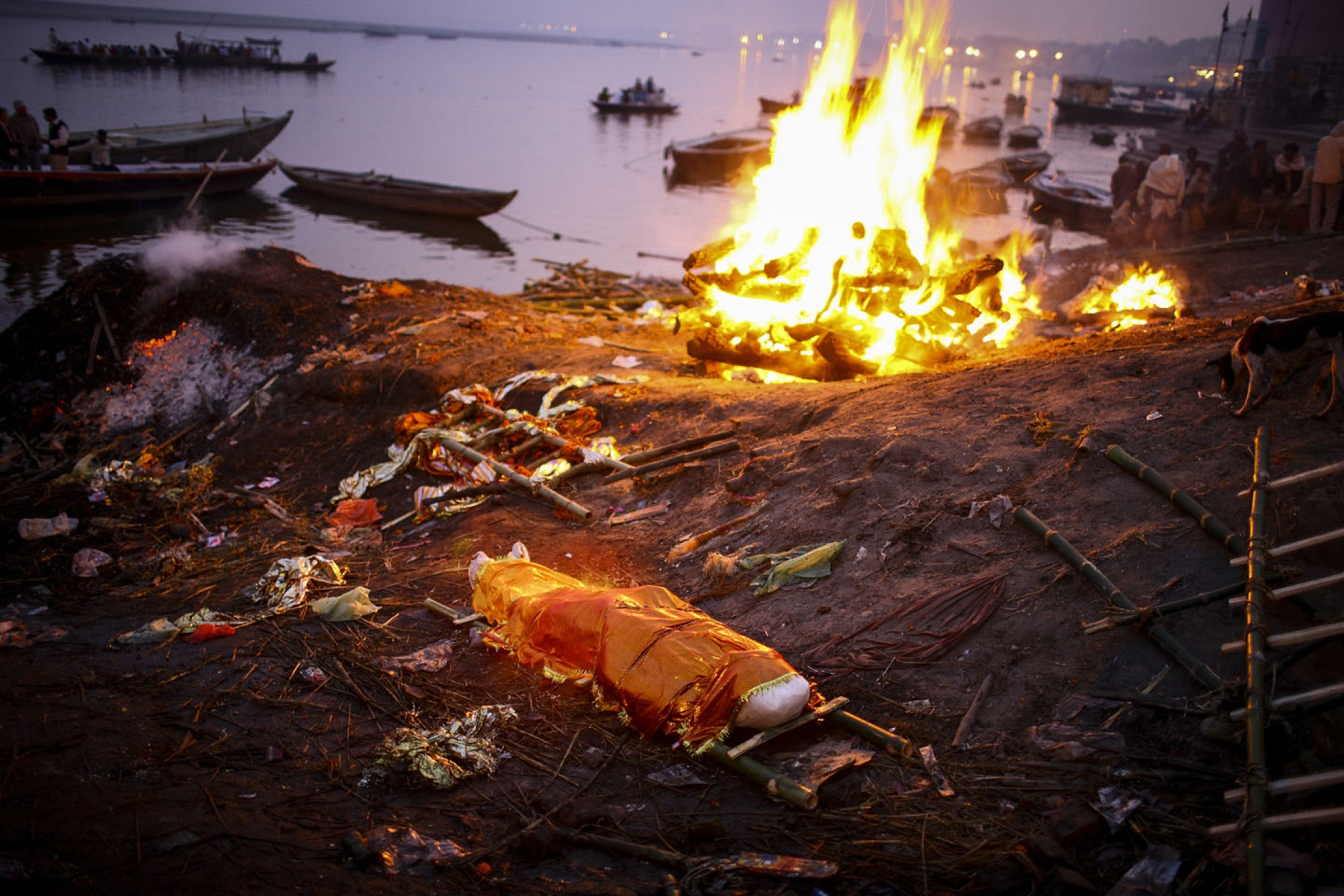 Burning ghats in Varanasi