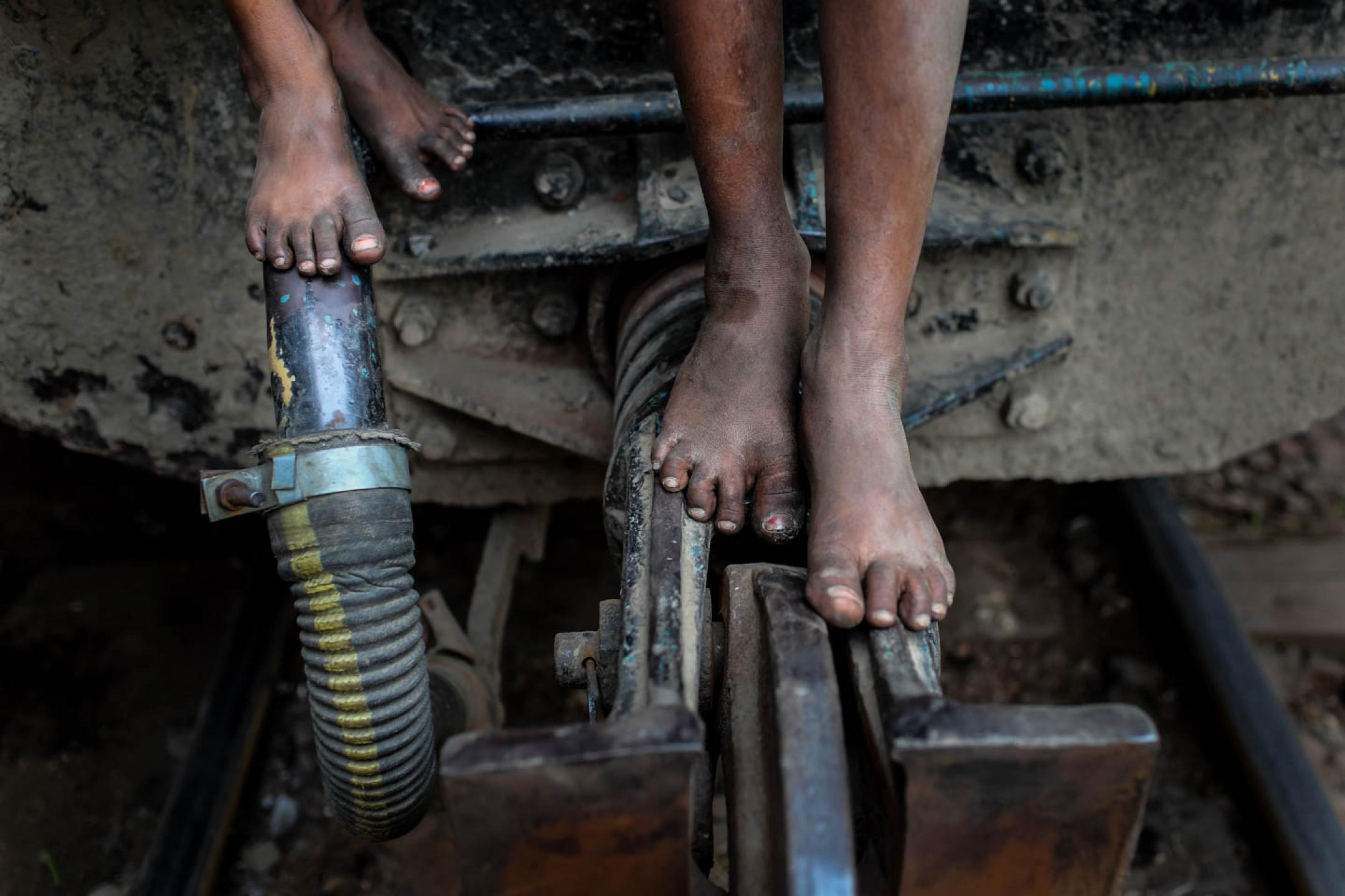 Street children in Bangladesh.